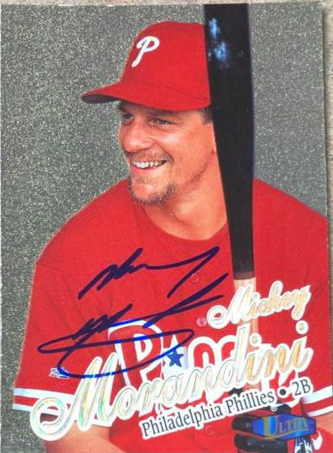 Mickey Morandini Autographed 1998 Fleer Ultra Gold Medallion #138G