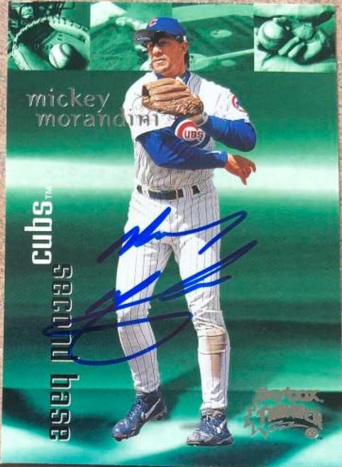 Mickey Morandini Autographed 1999 Skybox Thunder #127