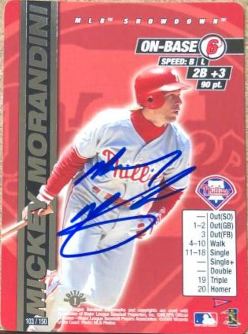 Mickey Morandini Autographed 2000 MLB Showdown Pennant Run 1st Edition #103 ID: 119996