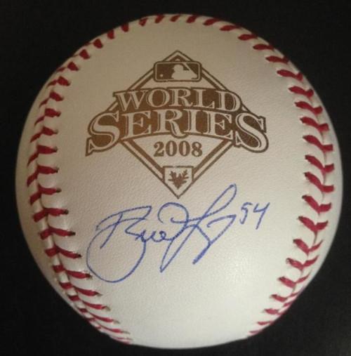 SOLD 4754 Brad Lidge Autographed 2008 World Series Baseball