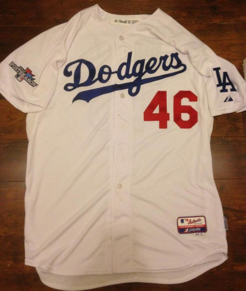 Ken Howell Autographed 2013 Post Season Los Angeles Dodgers Home Game Used Jersey