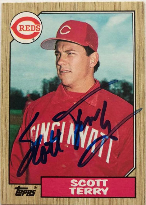Scott Terry Autographed 1987 Topps #453