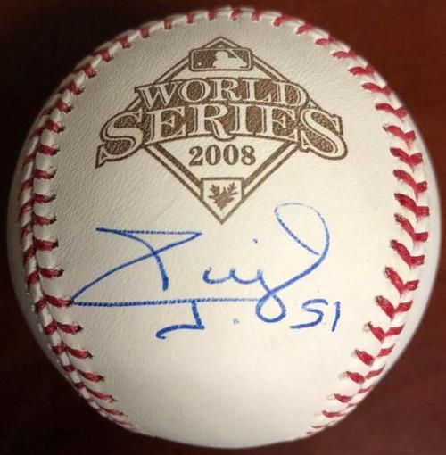 Carlos Ruiz Autographed 2008 World Series Baseball