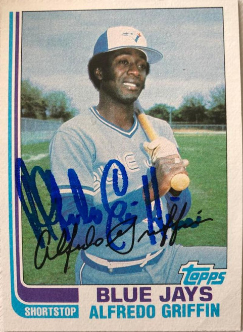 Alfredo Griffin Autographed 1982 Topps #677