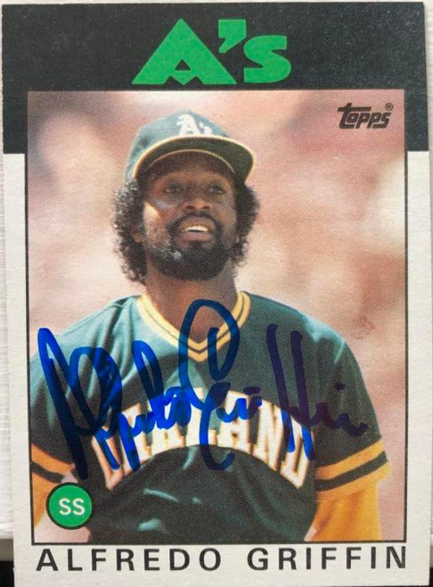 Alfredo Griffin Autographed 1986 Topps #566