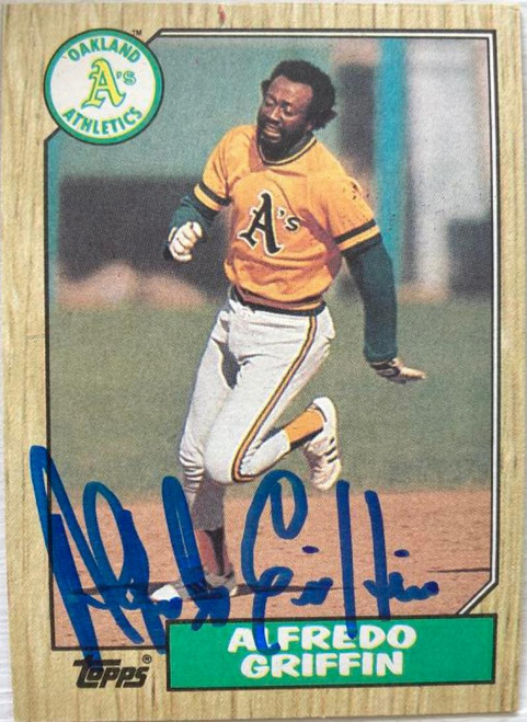 Alfredo Griffin Autographed 1987 Topps #111