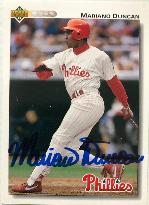 Mariano Duncan Autographed 1992 Upper Deck Gold Hologram #792