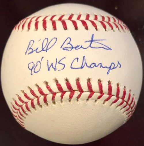 SOLD 6993 Billy Bates 90 WS Champs Autographed Rawlings Official Major League Baseball VERY RARE
