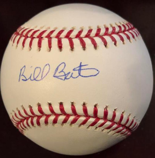 Billy Bates Autographed Rawlings Official Major League Baseball VERY RARE