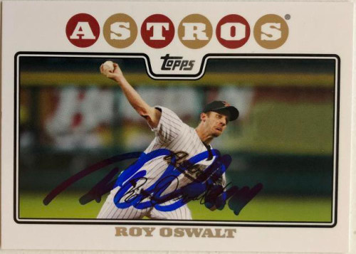 Roy Oswalt Autographed 2008 Topps #220