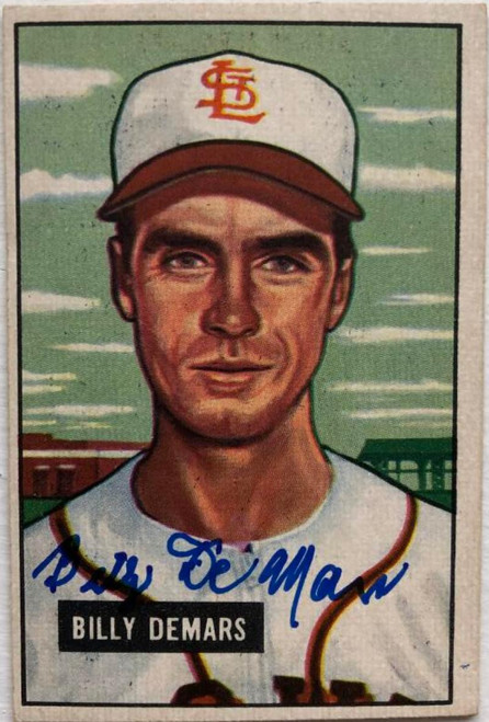 Billy DeMars Autographed 1951 Bowman #43