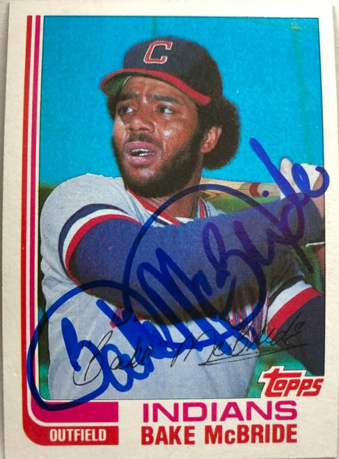 Bake McBride Autographed 1982 Topps Traded #69T