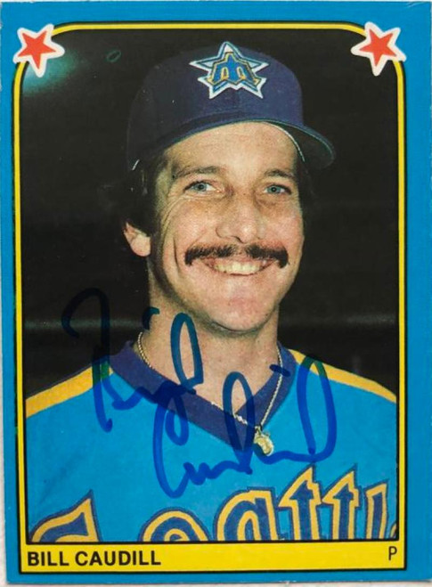 Bill Caudill Autographed 1983 Fleer Star Stickers #179