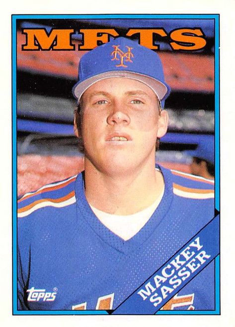 1988 Topps Traded #103T Mackey Sasser NM-MT RC Rookie New York Mets