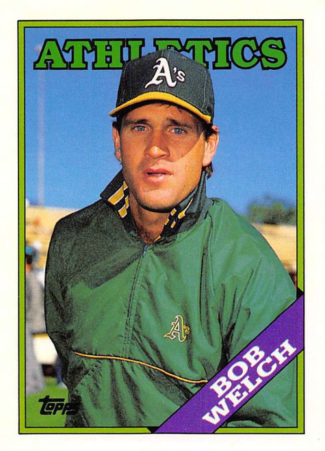 1988 Topps Traded #127T Bob Welch NM-MT Oakland Athletics