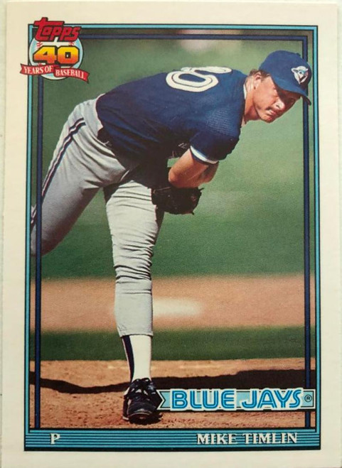 1991 Topps Traded #121T Mike Timlin NM-MT RC Rookie Toronto Blue Jays