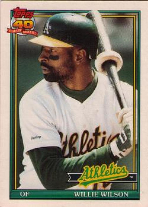 1991 Topps Traded #129T Willie Wilson NM-MT Oakland Athletics
