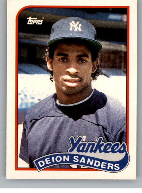 1989 Topps Traded #110T Deion Sanders NM-MT RC Rookie New York Yankees