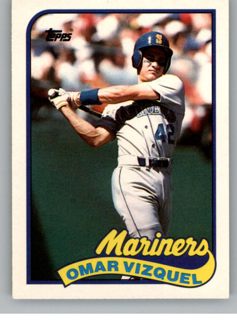1989 Topps Traded #122T Omar Vizquel NM-MT RC Rookie Seattle Mariners