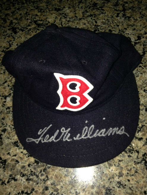 SOLD 771 Ted Williams Autographed Mitchell and Ness Boston Red Sox Hat