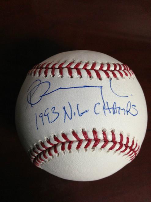 Pete Incaviglia Autographed ROMLB Baseball 93 NL Champs