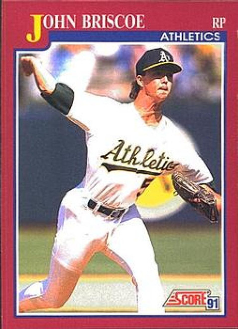 1991 Score Rookie and Traded #108T John Briscoe NM-MT RC Rookie Oakland Athletics