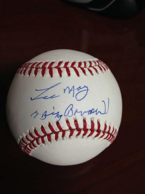 SOLD 846 Lee May Autographed ROMLB Baseball Big Bopper