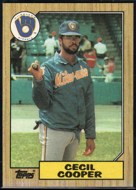 1987 Topps #10 Cecil Cooper NM-MT Milwaukee Brewers