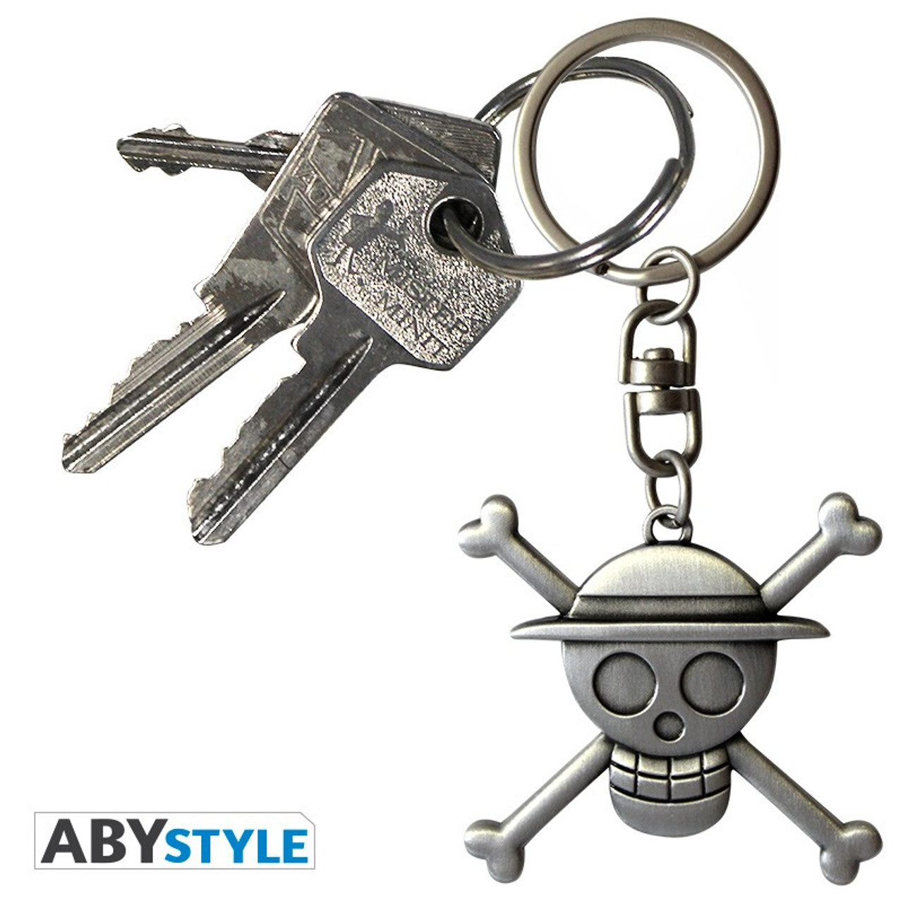One Piece ~ Skull Luffy 3D Metal  Keychain