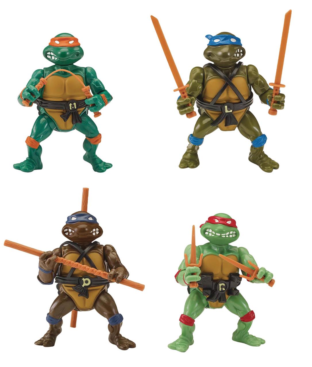 Teenage Mutant Ninja Turtles ~ SDCC 2020 Retro Rotocast Action Figure Set