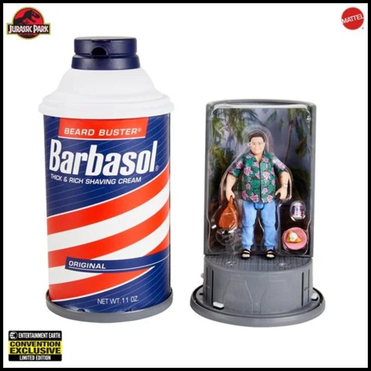 Jurassic Park ~ Barbasol Dennis Nedry Action Figure SDCC 2020 Exclusive