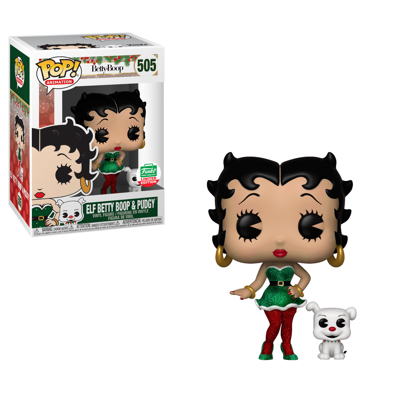 POP! Animation ~ Betty Boop ~ Elf Betty Boop & Pudgy #505