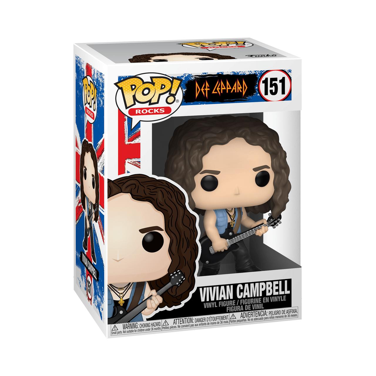 POP! Rocks ~ Def Leppard ~ Vivian Campbell #151 - Collectors Crate