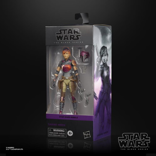 "Star Wars Rebels ~ The Black Series ~Sabine Wren  6"" Action Figure"