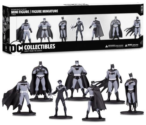 DC Collectibles ~ Batman ~ Black & White Mini Figure Set of 7 ~ Series 1