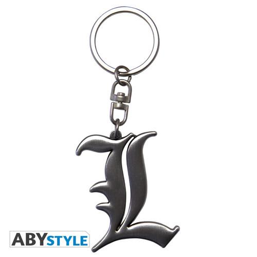 Death Note ~ L Symbol 3D Metal  Keychain