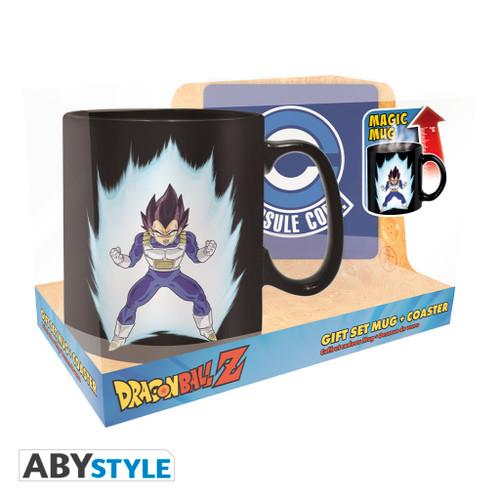 Dragon Ball Z ~ Vegeta Magic Mug & Coaster Gift Set
