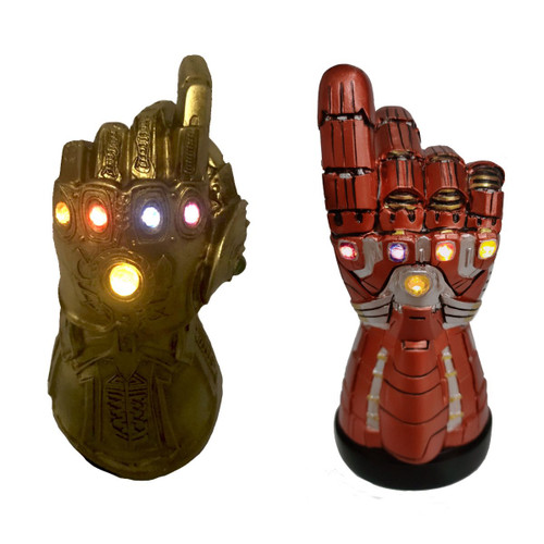 Marvel ~ Infinity Gauntlet ~ Two Pack Desktop Monument with LED Infinity Stones SDCC 2020