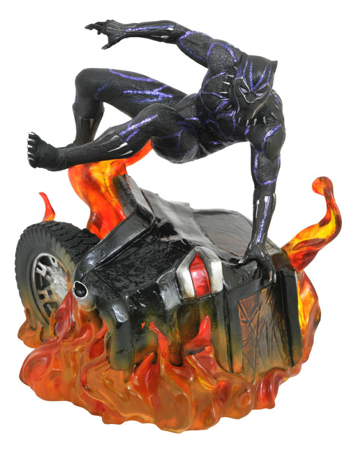 Marvel Gallery ~ Black Panther ~ Flaming Car Diorama