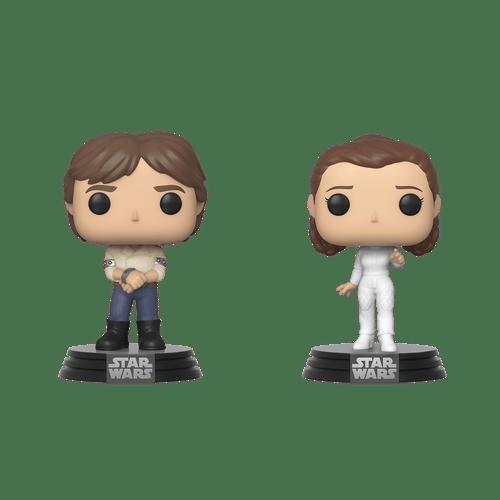 POP! Star Wars ~ Han Solo & Princess Leia 2 Pack