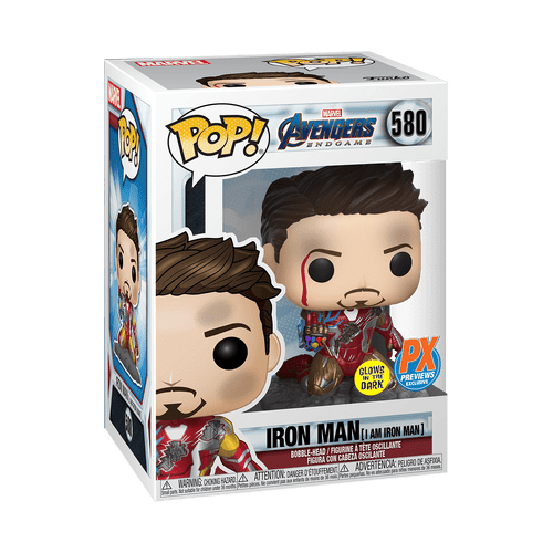 POP! Marvel ~ Avengers Endgame ~ Iron Man (I Am Iron Man) PX Exclusive GITD