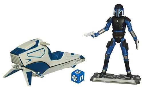 Star Wars ~ The Clone Wars  ~ Mandalorian Speeder with Mandalorian Warrior Vehicle Set