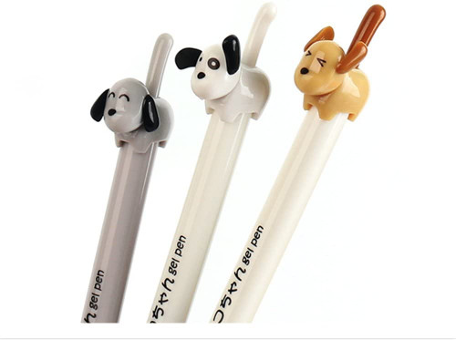 Dog Tail Retractable Gel Pen