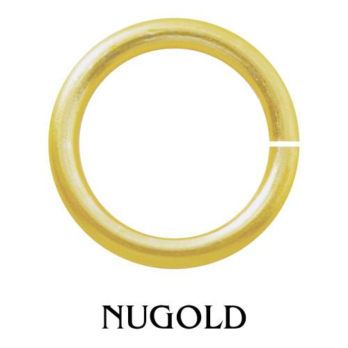 1//2 OZ NON TARNISH GOLD COLOR JUMP RING 18 GA WIRE 6 MM O//D 140 P