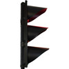 "TL12 - 12"" 3 LED Light Sections Traffic Light - Red, Amber & Green - Profile"