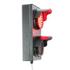 "TL4 - 2 Light Section 4"" Traffic Light/Dock Light - Profile Red"