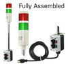 ASTL LED Tower Lights | Assembled stack light with your choice of Red/Green light sections.