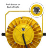 Push button on back of light for on/off operation