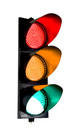 "TL12 - 12"" 3 LED Light Sections Traffic Light - Red, Amber & Green - 3/4"