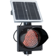 8 Inch Diameter LED Flashing Solar Powered Traffic Light - Red